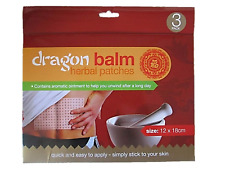 3 x Pain Relief Dragon Balm Herbal Back Plasters Patched Body Muscles Deep Heat