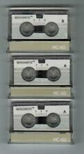 Three Pack MC60 Blank Microcassette Tapes Factory Sealed Ships from US Seller