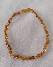 Genuine Kids Amber Necklace Honey Baroque 32cm Healing