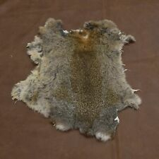 Rabbit Fur Pelt Natural Assorted earth tones single hide