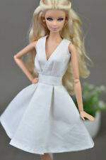 White Fashion Clothes/outfit lovely Dress for Barbie doll S02