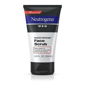 Neutrogena Men Razor Defense Face Scrub 4.2 OZ (124 mL) OIL FREE (PACK OF 2)