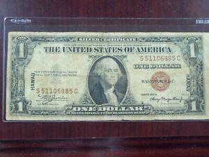 1935 A $1 Hawaii emergency issue bill