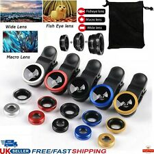 Professional Universal Fish eye Wide Macro Clip Mobile Phone Camera Lens Kit Set