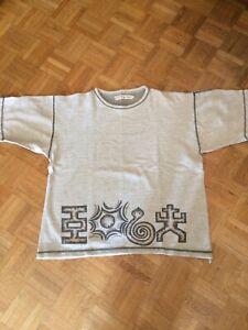 Tee Shirt Scott & Fox Imprimé Ethnique 100% Coton XL (Taille Grand) Gris Chiné