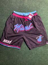 NWT Just Don NBA Miami Heat City Edition Shorts Size Men's Medium 100% Stitched