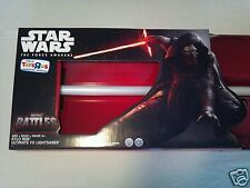 STAR WARS KYLO REN BLACK RED ULTIMATE FX LIGHTSABER FORCE AWAKENS HASBRO SERIES