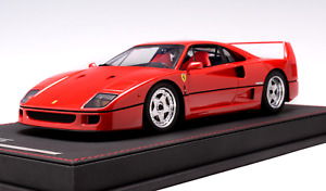 1/18 AB Models Ferrari F40 in Rosso Corsa Red  Leather Base n BBR / MR SOLD OUT