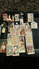 Vintage Catholic Prayer Cards, Rosary Beads, Metals, Other Devotional