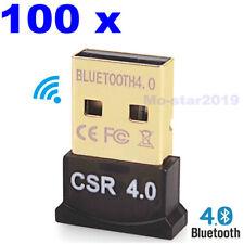 100x Mini USB Wireless Bluetooth 4.0 Adapter Dongle For PC Laptop Win XP-7/ 8/10
