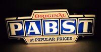 Vintage Original Pabst At Popular Prices Lighted Beer Sign Light PBR Blue Ribbon