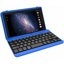 "Laptop RCA 7"" Tablet 1.3GHz Quad Cord Processor Screen 16GB Keyboard Case Blue"