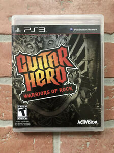 Guitar Hero Warriors of Rock (Sony PlayStation 3, 2010) PS3 Complete w/ Manual