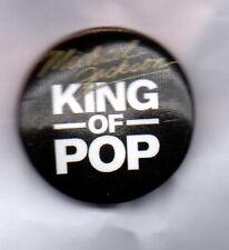 MICHAEL JACKSON King Of Pop BUTTON BADGE Bad 80s POP -  25mm Pin - Dangerous