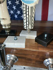 """Beer Tap Handle Base Display Stand w/Bolt, Genuine White Marble Size 2"""" x 3"""""""
