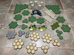 Large Heroscape Lot Terrain Swamp, Hex Pieces, Castle Ect. Hero Scape