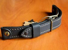 WW2 MILITARY GENUINE LEATHER BAND STRAP LACO AIR FORCE WATCH AVIATOR BLACK 22mm