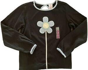 NWT Gymboree Girls Black PANDA CLUB Daisy Flower Top Shirt 2004 Vintage 7 NEW