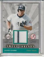 Jason Giambi New York Yankees 2004 Upper Deck Sweet Shot Game-Used Jersey Card