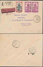 FRENCH SAHARA MALI 1939 REGISTERED AIRMAIL DJENNE