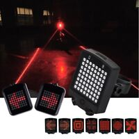 Remote Control Rechargeable Bike Rear Tail Light Turn Signal Laser Wireless Lamp