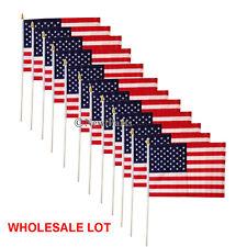 "12pcs 12""x18"" Usa American Stars Stripes Flag Patriotic Parade Handy Flag"