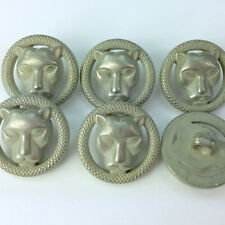 unusual animal Face Buttons Plastic 20mm Shank On Back Sold Per 5 Buttons