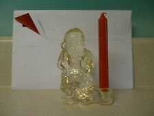 "4"" Glass Santa Figurine Candle Holder by Biedermann"