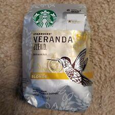 Starbucks Veranda Blend Whole Bean Blonde Roast Coffee Sealed 12 Oz Package