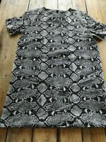 Zara Snake Print Mini Dress Long Tom Zip Detail Size M