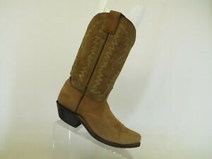 Brown Leather Cowboy Western Boots Womens Size 7 B