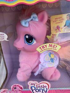 My Little Pony So Soft Crawling Pinkie Pie Toy Talks Crawls 2007 New In Box Pink