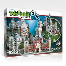 WREBBIT 3D JIGSAW PUZZLE THE CLASSICS NEUSCHWANSTEIN CASTLE 890 PCS  #W3D-2005