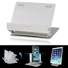 Aluminium Foldable Desk Stand Cradle Holder For iPad iPhone tablet Cell Phone
