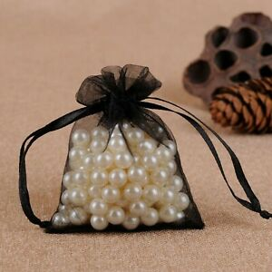 3x4 4x6 5x7 Sheer Organza Gift Candy Bags Jewelry Bags Wedding Party Favor