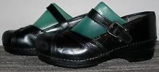 L@@K>>>DANSKO XP LEATHER SLIP~RESISTANT MARY JANE CLOGS SIZE 6.5~7 US/37 EUR!