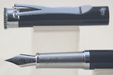 Jinhao Y1 Lacquered Black Fine Fountain Pen with Chrome Trim