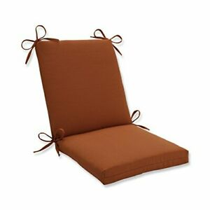 """Pillow Perfect Outdoor/Indoor Cinnabar Square Corner Chair Cushion 36.5"""" x 18..."""