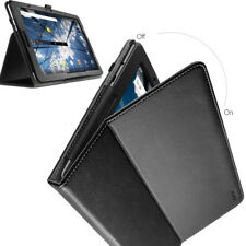 For AT&T Primetime Tablet Case Synthetic Leather Stand Cover Black