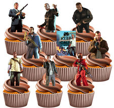 Grand Theft Auto GTA Themed Party Pack 36 Edible Cup Cake Toppers Decorations