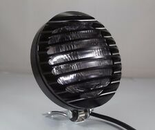 Grill Bottom Mount Motorcycle Headlight Cruiser Cafe Racer Old School Motorbike