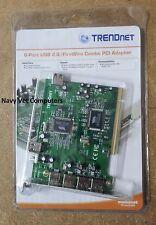 Trendnet 6-port USB 2.0/FireWire Combo PCI Adapter TFU-H33PI