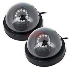 2x Surveillance Dome Security Camera 380TVL 12 LED Infrared IR Color Indoor CCTV