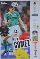 MARIO GOMEZ - A3 Poster (ca. 42 x 28 cm) - Fußball WM 2018 Clippings Sammlung