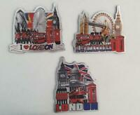 3D METALLIC FRIDGE MAGNETS SET OF 3 LONDON ICONS SOUVENIR FREE UK POSTAGE