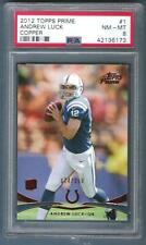 2013 ANDREW LUCK Topps Prime Copper Rc #74/350 PSA 8 Colts