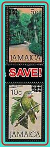 JAMAICA 1984 BIRD / FOREST TREES surcharge SC#581-82 MNH PARROTS (YOU HAVE IT?)