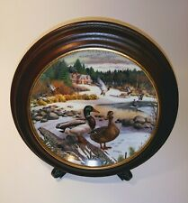 The Mallard Bart Jerner Living With Nature Collector Plate Wood Frame Man Cave