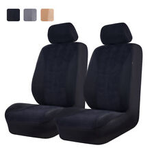 Universal 2 Front Car Seat Covers Airbag Black for Truck VAN VW TOYOTA Holden