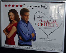 Cinema Poster: INTOLERABLE CRUELTY 2003 (Review Quad) George Clooney